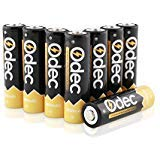Odec AA Rechargeable Batteries, 2450mAh Ni-MH Deep Cycle Battery Pack(8-Pack ) ()