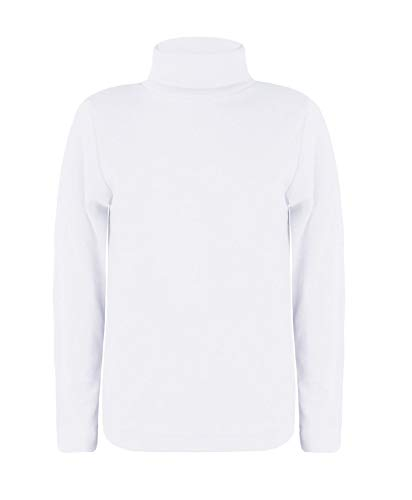 LOTMART Kids Plain Basic Lange Mouw Slim Fit Coltrui Shirt