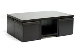 Wholesale Interiors Bar Table (Prescott Modern Table and Stool Set with Hidden Storage)