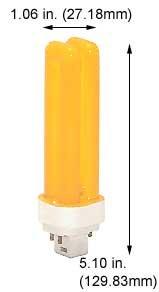 Compact Fluorescent Bulbs F13DDTT/DE/Yellow (Case of 5)