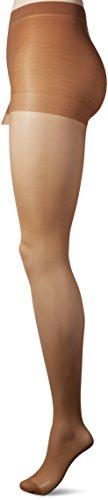 L'eggs Women's Silken Reinforced Toe Panty Hose, Suntan, B