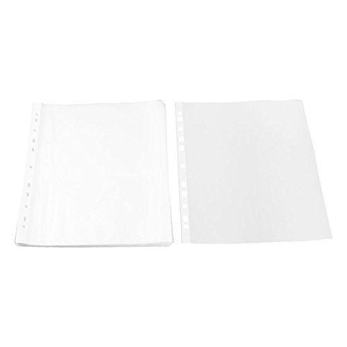 uxcell Plastic School Square Shaped File A4 Paper Storage Sheet Protector 0.02cm Thickness 100pcs Clear by uxcell