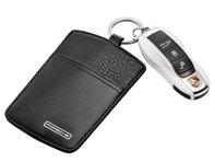 Porsche Black Leather Sport Classic Key Pouch Classic Key Pouch