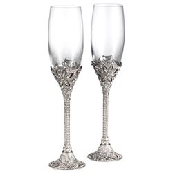 - WINDSOR CHAMPAGNE FLUTES 7oz pair by Olivia Riegel -