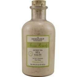 AROMA REMEDY by Aromafloria: ANCIENT SEA SPA SALTS 23 OZ BLEND OF TEA TREE, GERANIUM, AND MAY CHANG (PRESERVATIVE FREE)