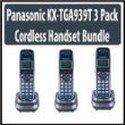 Panasonic KX-TGA939T 3 Pack Cordless Handset Kit, Office Central