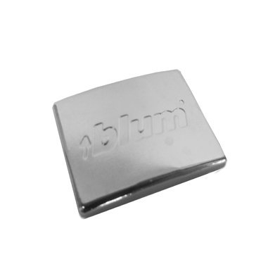 Pro Pack of 50Pcs, Compact 38C/39C Hinge Logo Cover Cap, Steel, (Embossed) ''Blum''