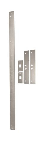 Ez Set Satin (Door Armor MAX – Complete Door Reinforcement Set in Satin Nickel — Door Security by Armor Concepts)