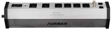 Furman PST-6 15-Amp Aluminum Chassis 6-Outlet Cable and Telco Protection Standard Level Power Conditioning