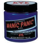 Manic Panic After Midnight Blue Hair Dye Color (Pastel Hair With Manic Panic Ultra Violet)