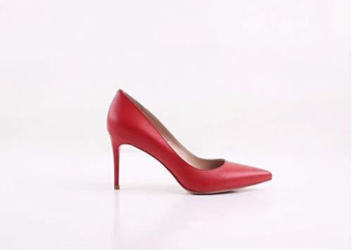 Hochzeit Schuhe Handgemachte Heels PU HCBYJ High Schuhe natürliche Authentische Damen Mode High Heels Flache PU qOA5Ow6x7