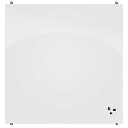 Visionary Glass (Best-Rite 72 x 48 x 1/8 Inches Visionary Magnetic Glass Whiteboard, Frameless, Glossy White, 83845)