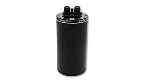 Vibrant 4in OD Universal Catch Can 2.0 w/ Integrated Filter Aluminum - Anodized Black (12695) by Vibrant Performance