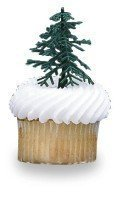 12 ct - Evergreen Trees for Cake and Cupcake Decorating by C