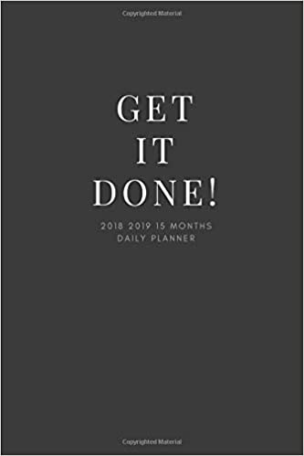 Get It Done 2018 2019 15 Months Daily Planner Small Mini Calendar