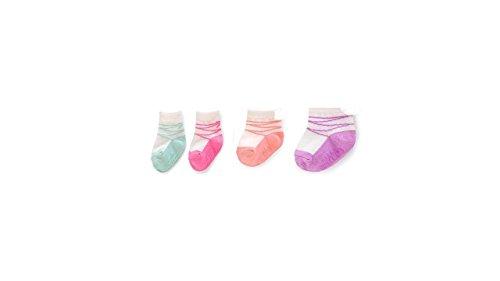Trumpette Baby Girl - Noodles Baby Girls' Pastel Ballerina Cotton Sock Bootie 4 Pack (0-12 Months)