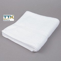 Tabletop king 16'' x 30'' White 100% Combed Egyptian Cotton Hotel Hand Towel 3.5 lb. - 12/Pack