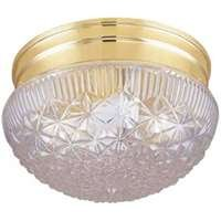 Boston Harbor F14BB01-80033L 2-Light Flush Ceiling Fixture, Brass