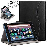 Ztotop Folio Case For Amazon Flre Hd 8 Tablet 8th 7th Generation 2018 And 2017 Release Smart 360 Degree Rotating Leather Cover Slim Folio Multi Angle Viewing Stand Case With Auto Wake Sleep Black