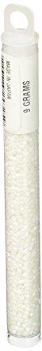 Miyuki Delica Seed Bead 11/0 DB351, Opaque White Matte, 9-Gram/Pack Delica Matte