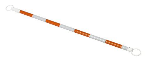 (Set of 20) RK CBAROW10 PVC Retractable Cone Bar, 2'' OD x 70-120'' Length, Orange by RK Safety