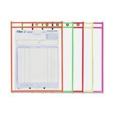 C-Line 43912 Shop Ticket Holder 9-Inch x12-Inch Metal Eyelet Neon Orange