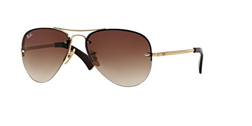 Ray-Ban RB3449 001/13 59M Arista/Brown Gradient Sunglasses For Men For Women
