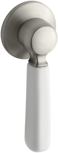 Nickel Brushed Toilet Lever (KOHLER K-9476-BN Bancroft Toilet Trip Lever, Vibrant Brushed Nickel)