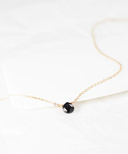 Gemstone Necklace Simple Layering ()