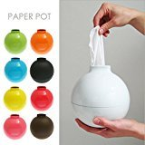 Ocama Fashion Bomb Shape Paper Holder Home Decor Paper Pot Toilet Bath Table Tissue Holder Dispenser Box Cover Case,White