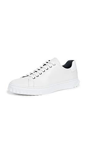 Salvatore Ferragamo Men's Cube Lace Up Sneakers, White, 10 M US