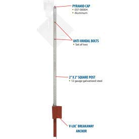 Tapco 373-90002 Pole Package with V-Loc Soil Anchor, 2'' x 2'' x 10' (373-90002)