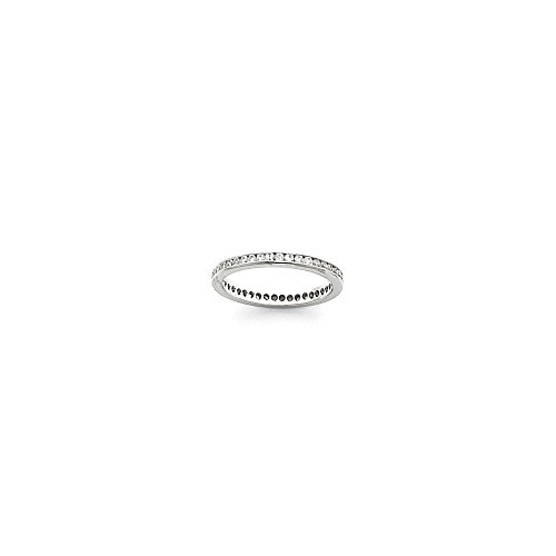 Platinum 2.25mm Wide Size 7 Eternity Band Mounting, Best Quality Free Gift Box - Base Only, No Stones - Eternity Band Mounting