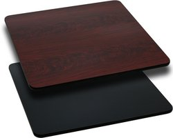Square Rectangular Dining Tables (Rectangular Table Top with Black or Mahogany Reversible Laminate Top (Top Only) 36