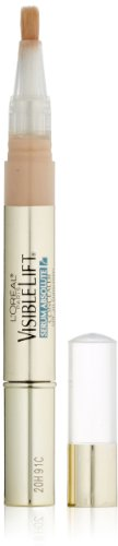 Lift Visible Eye (L'Oréal Paris Makeup Visible Lift Serum Absolute Concealer, illuminates and conceals for smoother, brighter, even skin, light hydrating formula won't settle into lines or wrinkles, Fair, 0.05 fl. oz.)