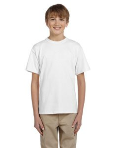 - Hanes Youth Heavyweight Blend Tee, White, S