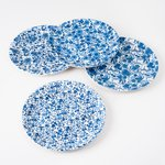 [Blue and White Floral Melamine Plates 9