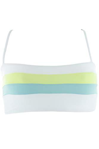 Color Block Bandeau Swimsuit - LSpace Women's Color Block Bandeau Bikini Top White Light S