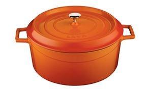 Arcata, Round Casserole Dish, 7. 50 qt, Orange, Cast Iron, each by Arcata