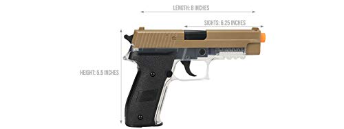 Sig_Sauer Spring Airsoft Pistol (Dark Earth) W/ 6mm 0.12g BBS (Color May Vary) (2 Pistols with 4 Bags of BBS)