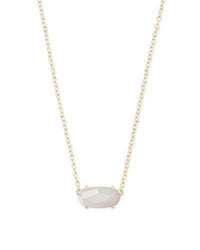 Kendra Scott Ever Gold Pendant Necklace in Ivory Pearl (Womens Necklace Ivory)