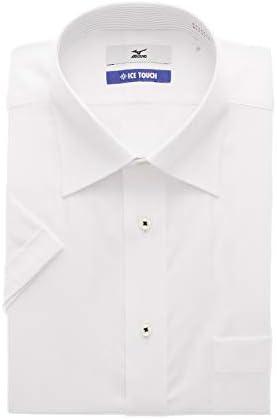 [MIZUNO] ワイドカラースタンダードワイシャツ【半袖】【キング】【ICE TOUCH】 盛夏用 C2JAA53K-00