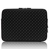 Laptop Case,TechCode Waterproof Material MacBook Bag Laptop Sleeve Tablet Bag,Soft Protective Notebook Bag Envelope Package Carrying Case Cover for all 15-15.4 inch Display (15-15.4 inch, Black)