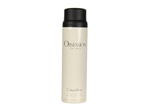 Calvin Klein Cosmetics Obsession for Men All Over Body Spray, 5.4 Ounce
