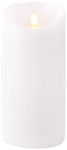 "NEW Liown 3.5"" x 7"" Moving Flame White Unscented Pillar Batt"