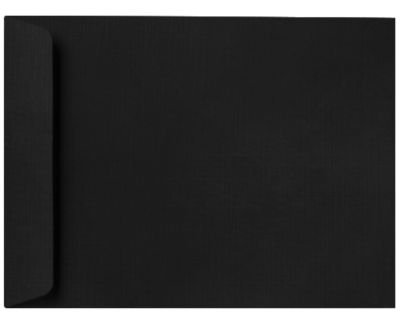 10 x 13 Open End Envelopes - Black Linen (1000 Qty.) | Perfect for Tax Season, Important Documents, Letters, Invoices or Statements | 4897-BLI-1M