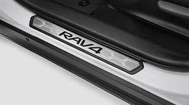 (Toyota Genuine Rav4 Door Sill Protectors PK382-42K01. Black & Stainless 4 Piece Set. 2019)