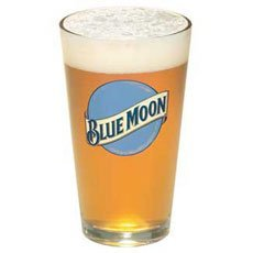 Blue Moon Glass (Blue Moon Beer Pint Glass | Set of 2 Glasses)
