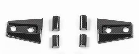 FMtoppeak 6 Colors Exterior Decoration ABS Engine Hood Hinge Cover Sticker for Jeep Wrangler 2007-2017 (Carbon Fiber)