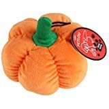 Petlou Durable Plush Dog and Cat Toys with Multi-Squeaks and Crinkle Paper. (Orange, 6-inch Pumpkin)]()